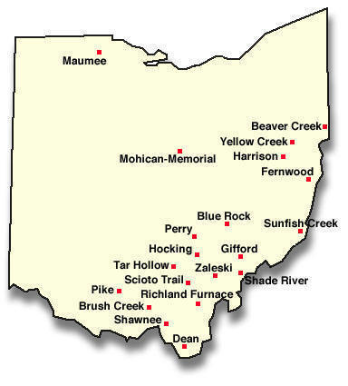 Ohio Forest Map